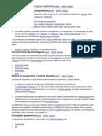 Características de las aguas residuales