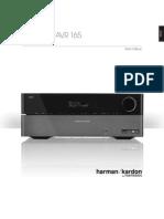 Owner Manual - AVR 1650, AVR 165 (English EU)