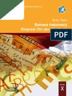10 Bahasa Indonesia Buku Guru Cover