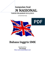Naskah Soal UN Bahasa Inggris SMK 2013 (3 Paket Soal) Pak-Anang.blogspot.com