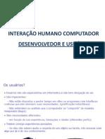 Desenvolvedor e Usuário IHC