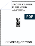 Tchaikovsky-Auer - Lensky Aria