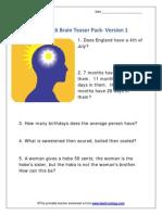Brainteasers 1