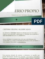 Criterio Propio. Mayra V.