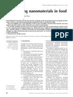 Determining Nanomaterials in Food