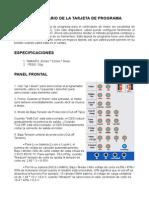 Manual Programa Tarjeta