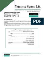 Silicona Sylgard 170 Elastomero de Silicona