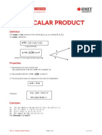 Vectors Scalar Product
