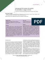 Caracterización experimental de riostras de pandeo restringido