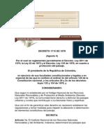 DECRETO 1715 DE 1978  Régimen Legal de Bogotá D