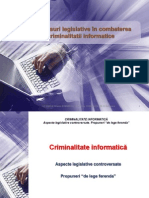 Neajunsuri Legislative DreptIT CT 2009 2. frauda informatica