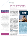 ' The Role and Relevance of Gender in Peace Mediation '