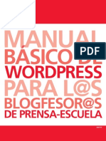 Guía Wordpress Castellano 2010 Prensa Escuela