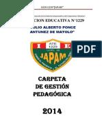 Carpeta Pedagogica Sec-japam 2014