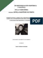 GESTIÓN DE GOBIERNO DURANTE EL MANDATO CONSTITUCIONAL DE LA SEÑORA PRESIDENTE MARÍA ESTELA MARTÍNEZ CARTAS DE PERÓN