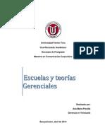 Escuelas y Teorias Gerenciales - Informe