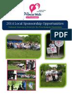 2014 - Promise Walk - Local Sponsorship