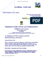 Summary of the Theory of Communicative Action - Szczelkun
