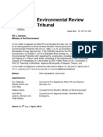 Environmental Review Tribunal ruling on additional evidence