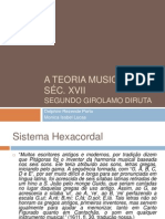 A Teoria musical no séc 16