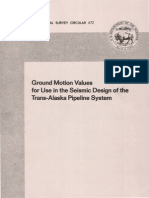 Ground Motion Values for use in the seismic design of trans-Alaska pipeline system