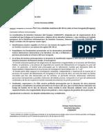 Apoyo a Petición P-417-14 y Medidas Cautelares MC-99-14 sobre Caso Curuguaty (Paraguay)