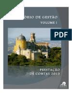 Relatório de Gestão das Contas de 2013 do Município de Sintra (Volume I)