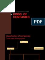 Kinds of Companies