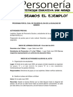 PROGRAMA POR EL CUAL SE CELEBRA EL DIA DE LA NIÑEZ E IGUALDAD DE GÉNERO