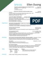 duong ellen resume