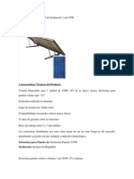 Estructura Aluminio a 30º de Inclinación 1 ud 150W
