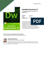 Novedades Dreamweaver Cc