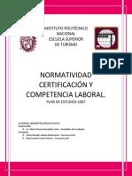 NORMATIVIDAD CERTIFICACIÓN Y COMPETENCIA LABORAL - FINAL