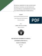 Studi Tentang Provisional Agreement on the Land Boundary Between the Republic of Indonesia and the Democratic Republic of Timor Leste Ditinjau Dari Perspektif Konvensi Wina 1969 Tentang Hukum Perjanji