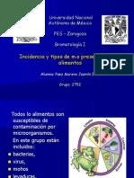 EXPO 58 Incidencia y Tipos de Mo Presentes en Los Alimentos