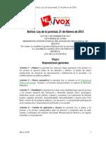 Bolivia Ley de La Juventud 2013 (1)