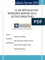 Manual de Instalación de Directorio Activo en Windows Server 2012-MuniveRios