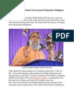 Prophecy of Sadhu Sundar Selvaraj About Pangasinan