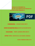 El trabajo Experimental en las Ciencias Naturales en la Educación Primaria II