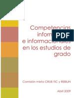 Competencias informáticas e informacionales (REBIUN/CRUE-TIC)