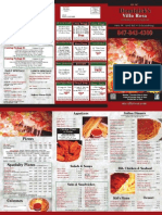 Dominicks Villa Rosa Pizza Menu - Schaumburg Pizza Delivery