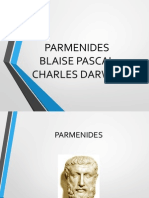 Parmenides, Pascal, Darwin
