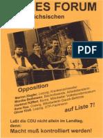1994-06 Neues Forum Sachsen - Landtagswahl