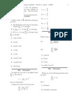 M408L Exam 3