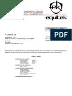 Cotización de equipos industriales
