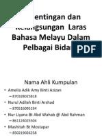 Kepentingan Dan Kelangsungan Laras Bahasa(2)