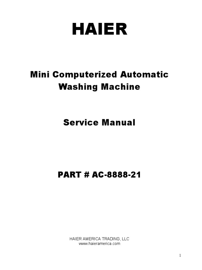 HLP21E Service Manual | Washing Machine | Tap (Valve) on