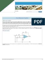 Differential Amplifier - The Voltage Subtractor