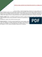 TIPOS DE POTENCIA SEGÚN LA NORMA ISO 8528