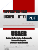 OPERATIVIDAD USAER     N° 71